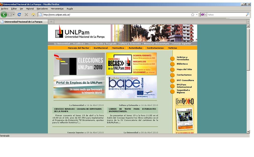 Sitios web para adolescentes